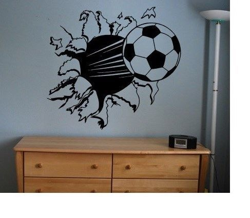 Soccer Ball sticker decal kids room decor sports football large bedroom wall diy