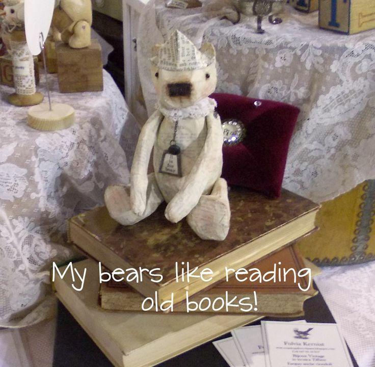 Handmade by me - papier mache' bear