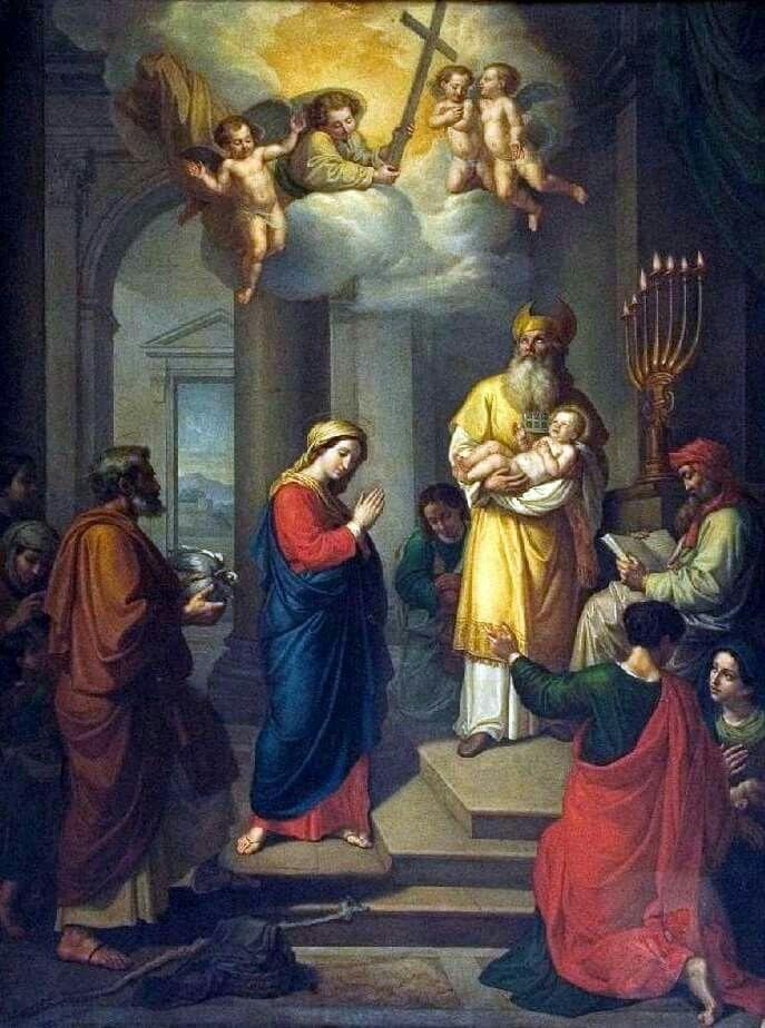 Apresentação no Templo   Jesus no templo, Arte católica, Batismo de jesus