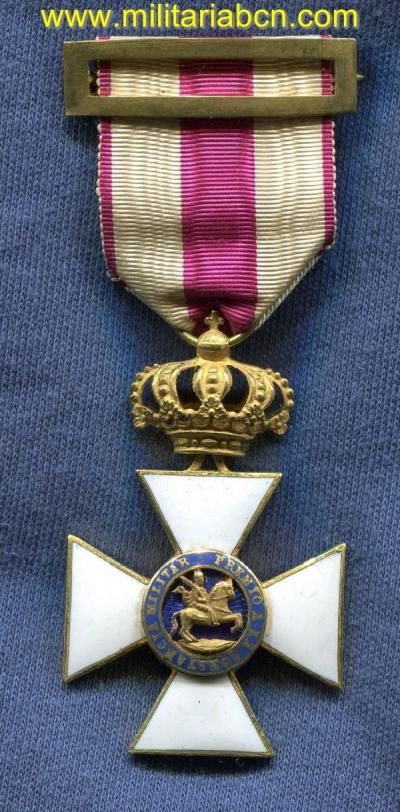Cruz de la Orden de San Hermenegildo.  Época Alfonso XII.