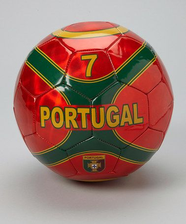 Take a look at this Burgundy Portugal Soccer Ball by Vizari on #zulily today!