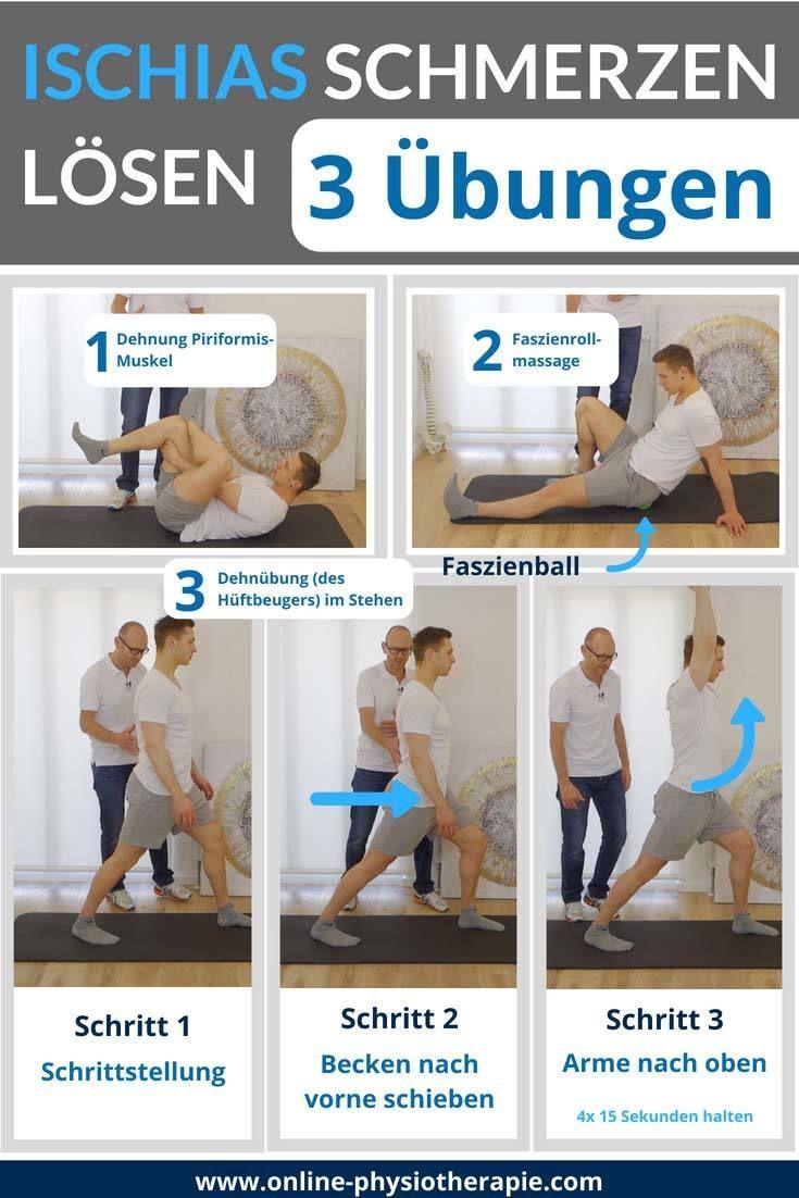 Berühmt Ischias-Schmerzen-Übungen, Ischialgie, Ischiasschmerzen loswerden &SA_72