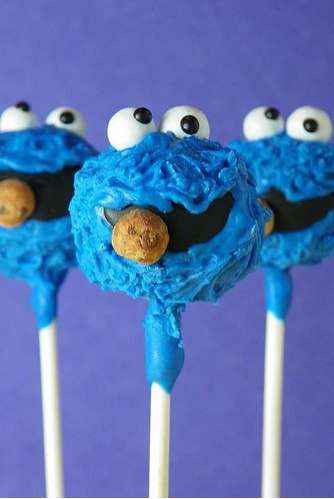 The Cake Poppery Whips Up Sesame Street Cake Pops #cakepops
