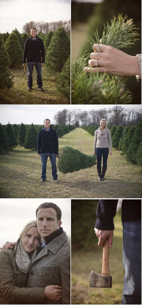 Really cute Christmas Engagement Session!