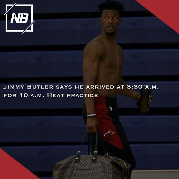 Jimmy Butler Fits The Heat S Culture Amazingly Well He S Already Showing It Miami S First Practice Began 10 A M Tuesday Acco Nba Memes Butler Nba Playoffs