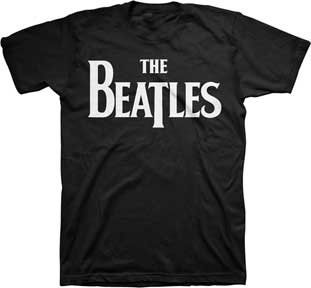 Black 100% cotton t-shirt with The Beatles logo. Fully licensed- a best seller!