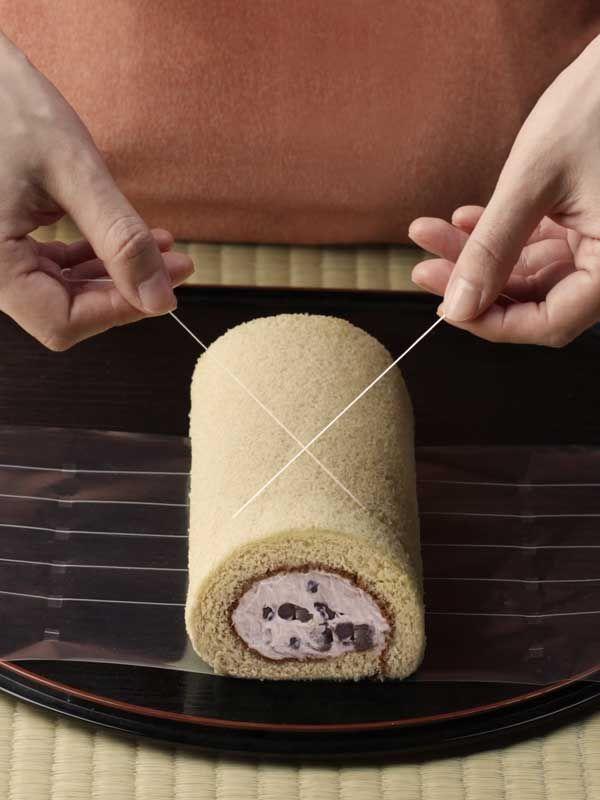How to cut the perfect Swiss roll slice/Kés nélküli felvágás