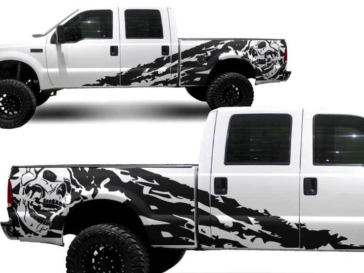 Ford Truck F 250 Side Skull Splash Graphic Decals Stickers