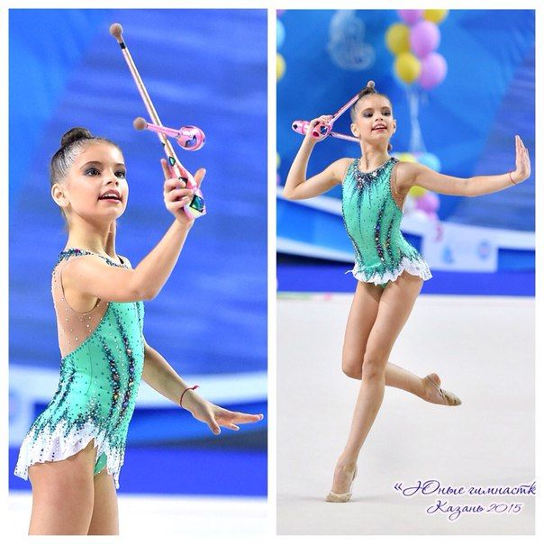 Nika Agafonova  leotards rhythmic gymnastics
