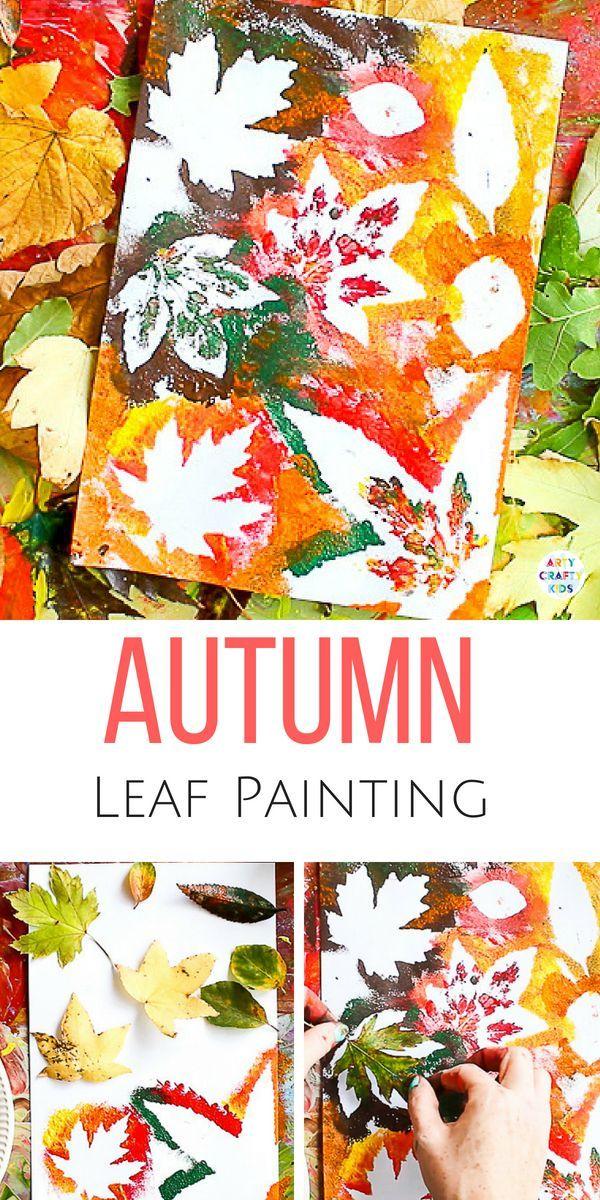 Herbstblatt-Malerei