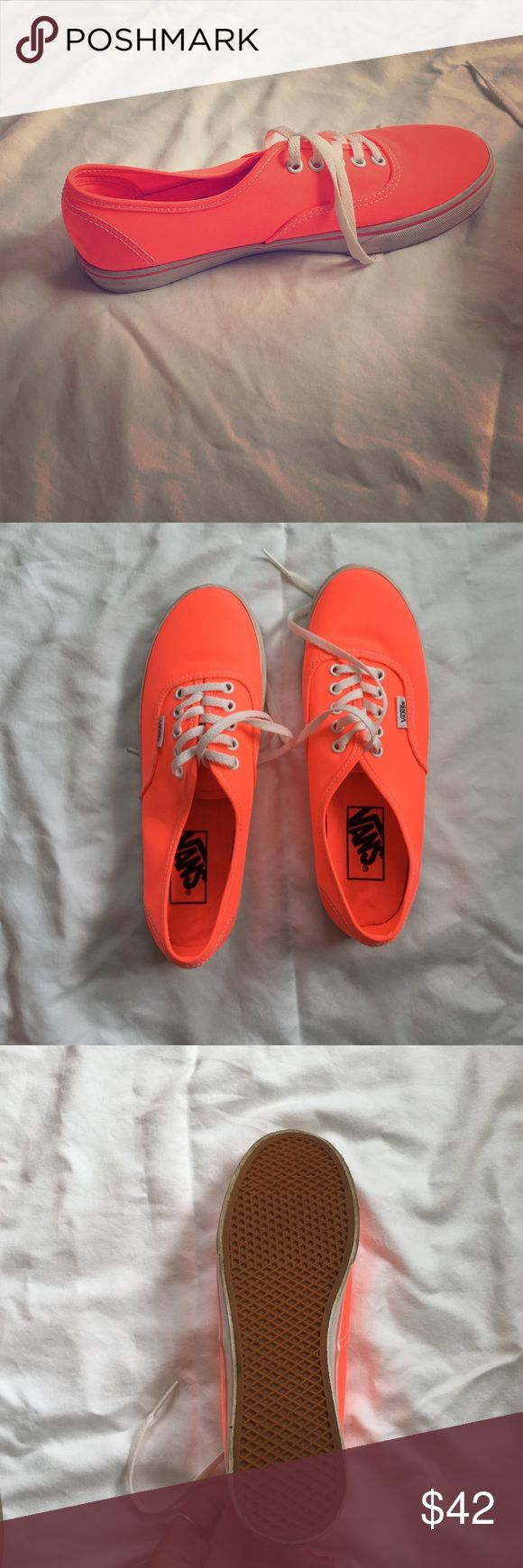 Coral vans Women's size 6.5 bright coral colored vans. I am usually a 7 but they fit well, worn once and in great condition Vans Shoes Sneakers