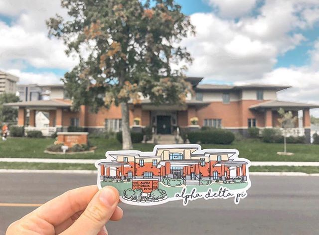 Custom House Stickers By One Of Our Artists I University Tees