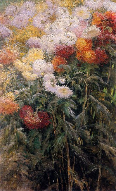 'clump of chrysanthemums', gustave caillebotte 1890