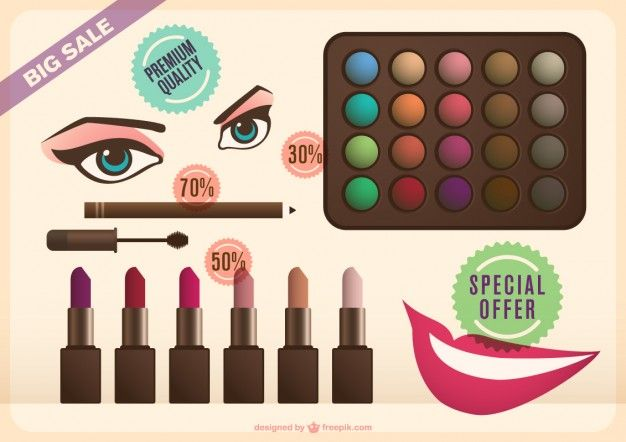 Make-up collection Free Vector