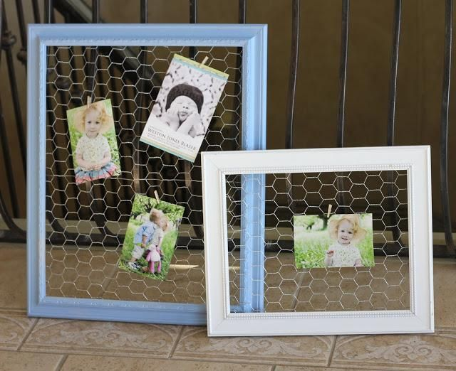 DIY Chicken Wire Frames DIY Home Decor Crafts