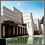 The Ennis House by Frank Lloyd Wright