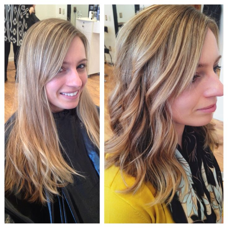 Before And After Balayage Highlights And Lowlights Long