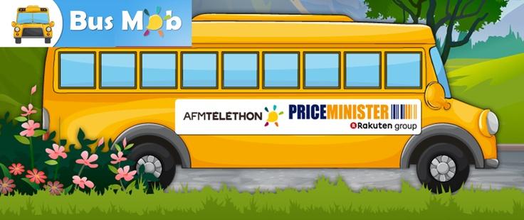 PriceMinister joue un rôle essentiel au côté de l'AFM-Téléthon dans son engagement :    En lançant un appel au don à l'ensemble de ses internautes pour accélérer la recherche.    En mobilisant sa communauté sur les réseaux sociaux avec le busmob Téléthon,  vous êtes fan de PriceMinister faites avancer son bus pour le voir propulser en haut du podium… pour cela faites des actions et rejoignez le mouvement !