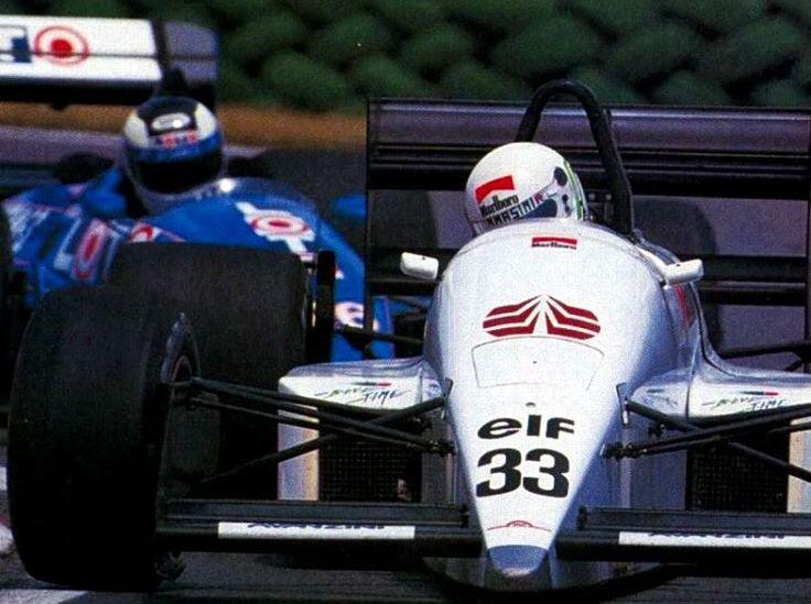 Stefano Modena, Montreal 1998, Eurobrun ER188.... followed by Stefan Johansson (Ligier JS31)
