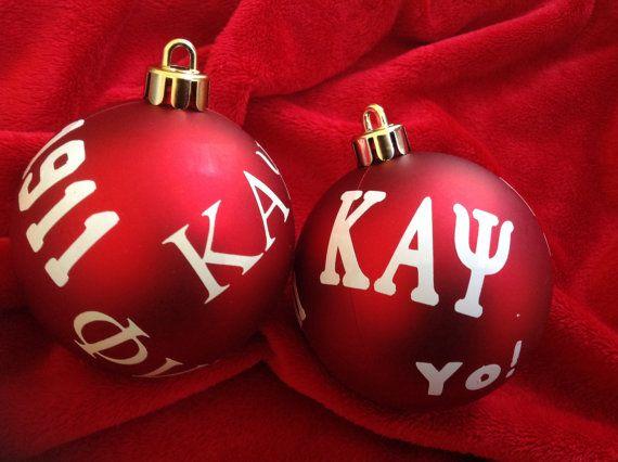 Kappa Alpha Psi Phi Nu Pi inspired ornament set on Etsy, $8.95