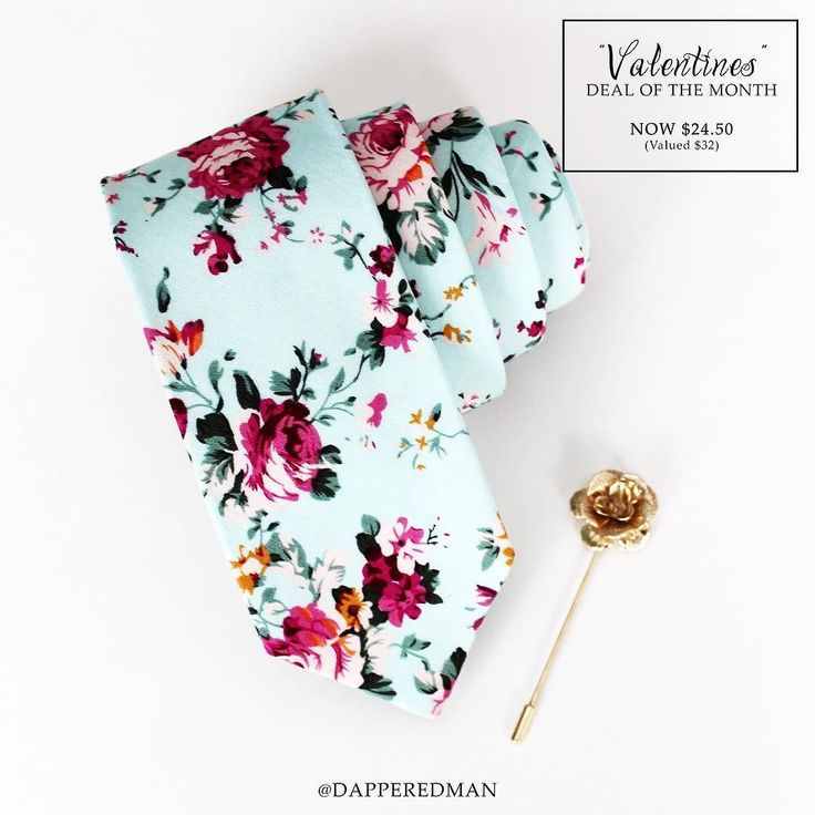 Floral skinny tie and rose lapel pin - NOW $24.50! http://ift.tt/TMFZOz by dapperedman
