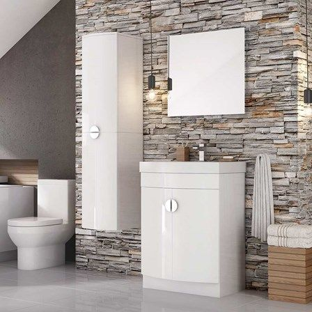 Harbour Acclaim D Shape 600mm Floorstanding Vanity Unit U0026 Basin   White  Gloss. Modern VanityVanity BathroomVanity ...