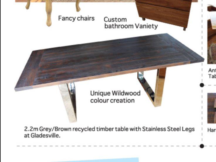 Timber and steel table by us · Steel TableWildwood DesignsDesigns  SydneyTimber Tables