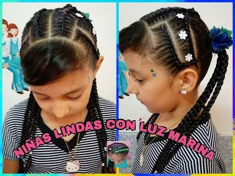PEINADO INFANTIL CON COLETAS /CHILDRENS HAIRSTYLE WITH PIGTAILS - YouTube