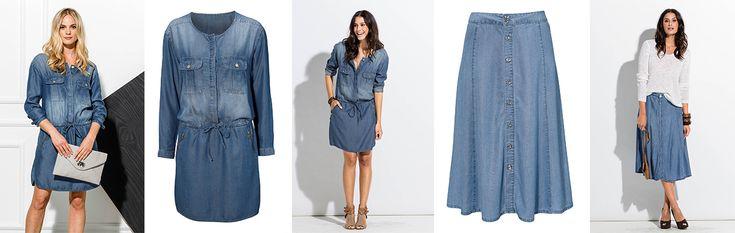 Dżinsowe spódnice i sukienki