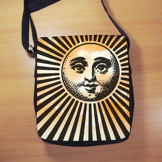 Retro Rising Sun Shoulder Bag  Small Shoulder Bag by RegalosOnline