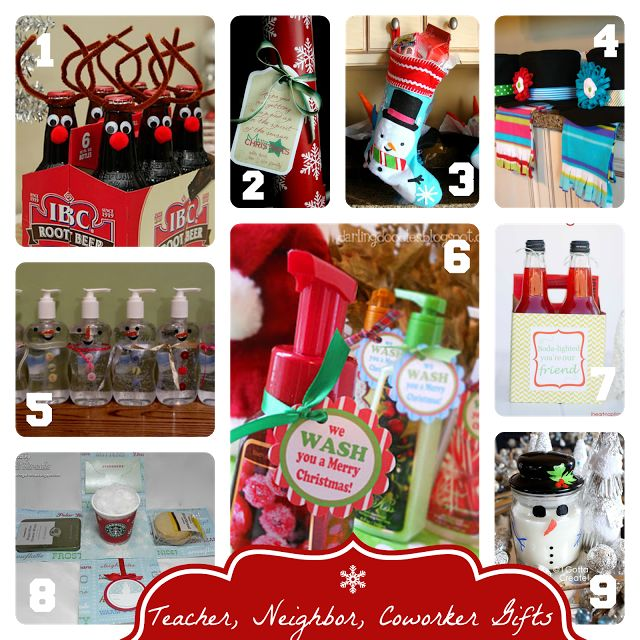 Easy Handmade Christmas Gift Ideas for Teachers, Neighbors, Co-workers, etc.