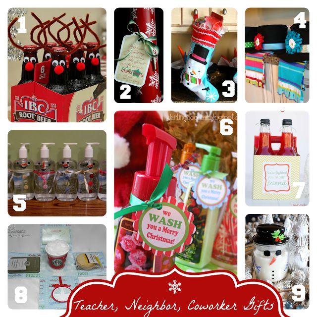 Easy Handmade Christmas Gift Ideas for Teachers, Neighbors, Co-workers, etc.
