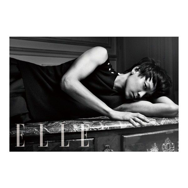 Kang Dong Won - Elle Magazine May Issue '13 ❤ liked on Polyvore