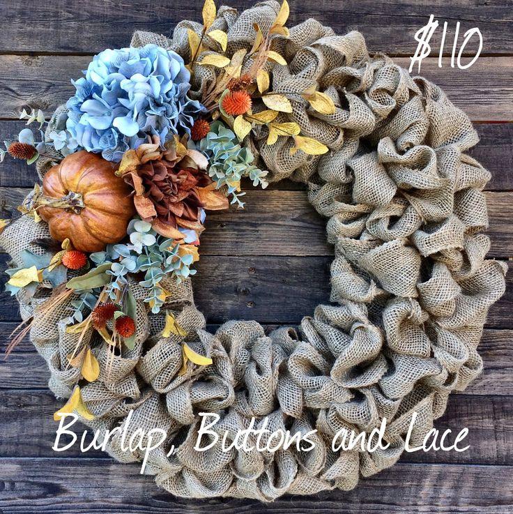 Gorgeous Fall Burlap Wreath