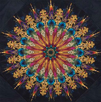 Another of Paula Nadelstern's awesome kaleidoscope quilts. Look at her books, you can FALL INTO THEM. Ever have a chance to take a class from her? JUMP ON THAT!