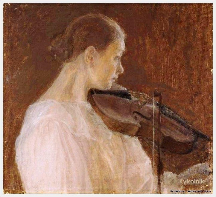Ellen Thesleff (Finlande, 1869-1954) – La Violoniste (1899)