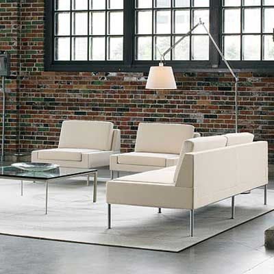 Office Chairs   Modern Contemporary Lounge Leather Sofa   I Like The Rug  Under The Seating Area