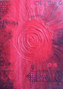 """Saatchi Art Artist Sina Muscarina; Painting, """"Rubedo Alchimia"""" #art sinamuscarina"""