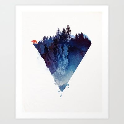 Near to the edge Art Print by Robert Farkas