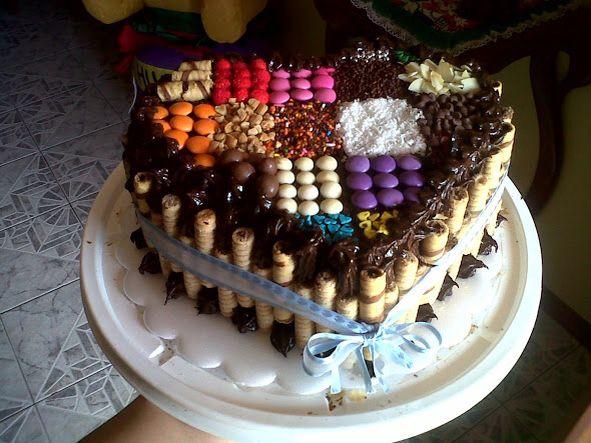 Candy cake - torta decorada con dulces