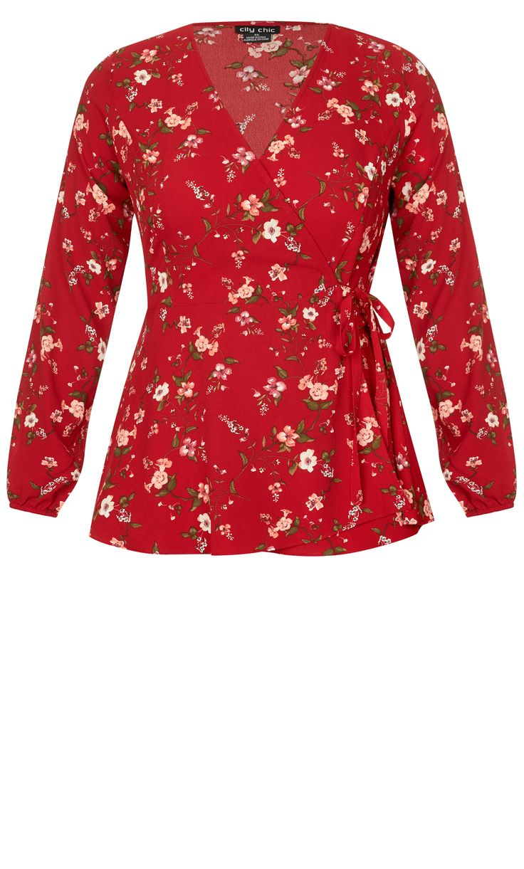 Style By Trend: Paris Date by City Chic - RED FLORAL TOP#citychic #citychiconline #curves #newarrivals #ootd #plussize #plussizefashion #psootd