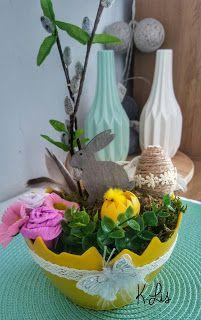 Po prostu K.Lis: Wielkanocny stroik w skorupce