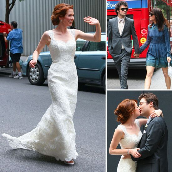 Ellie Kemper's Wedding Pictures! The Office's Ellie Kemper got married to longtime boyfriend Michael Koman in NYC on Saturday!