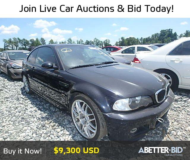 Salvage  2003 BMW M3 for Sale - WBSBL93493JR22034 - https://abetter.bid/en/28287116-2003-bmw-m3