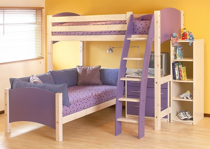 Purchasing Qualified Ikea Kids Beds Bedroom Furniture Cresta Scallywag L Shaped Bunk Bed With Purple Color Theme And Beautiful