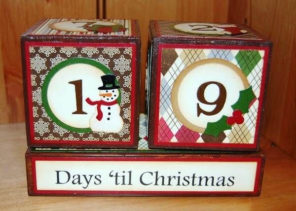 19 Days til Christmas 2013 Coundown Blocks Images