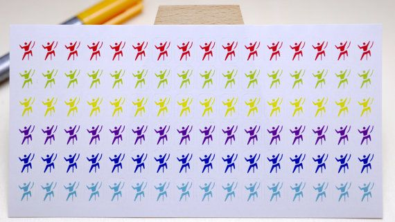 StickersSwissMade@Etsy - small stickers for every planner or bullet journal which is out there! PLANNER STICKER || climbing || sport || small rainbow colored | for your planner and bullet journal #JournalStickers #organizer #FilofaxStickers #BulletJournal #PlannerStickers #BujoStickers #LivewellPlanner #sport #JournalDecorations #PersonalPlanner https://www.etsy.com/shop/StickersSwissMade?utm_source=outfy&utm_medium=api&utm_campaign=api