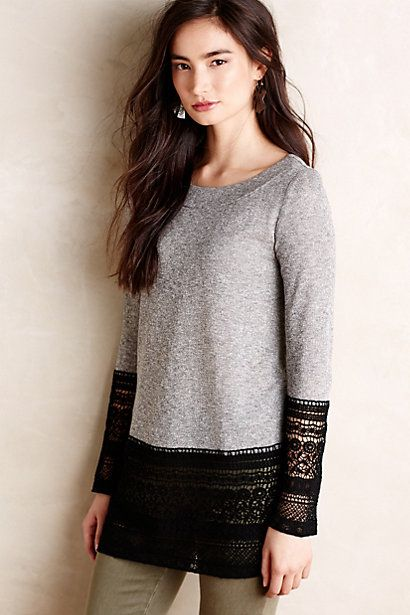 Recessed Lace Sweatshirt by Sunday in Brooklyn
