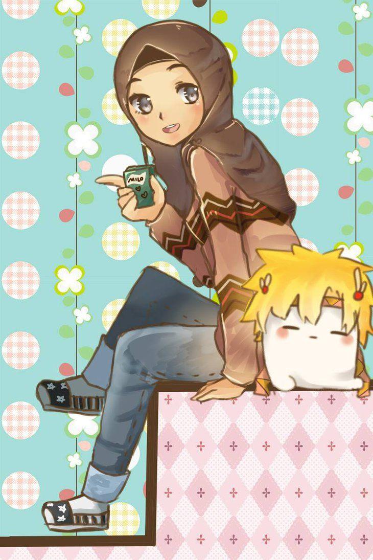 Anime manga hijab art anime manga hijab gambar