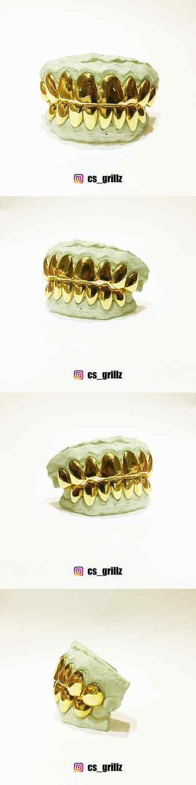 Grillz Dental Grills 152808: 10K Solid Yellow Gold Custom Fit Real Perm Cut Grill Gold Teeth Grillz. BUY IT NOW ONLY: $250.0